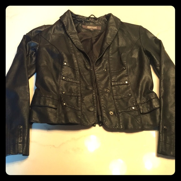 Kenneth Cole Reaction Jackets & Blazers - Black faux leather coat Kenneth Cole REACTION XS